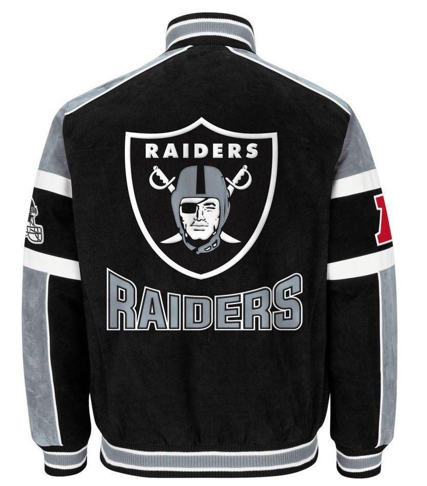 Raiders Varsity Jacket | Raiders Satin Starter Jacket | Oakland Raiders Pajamas