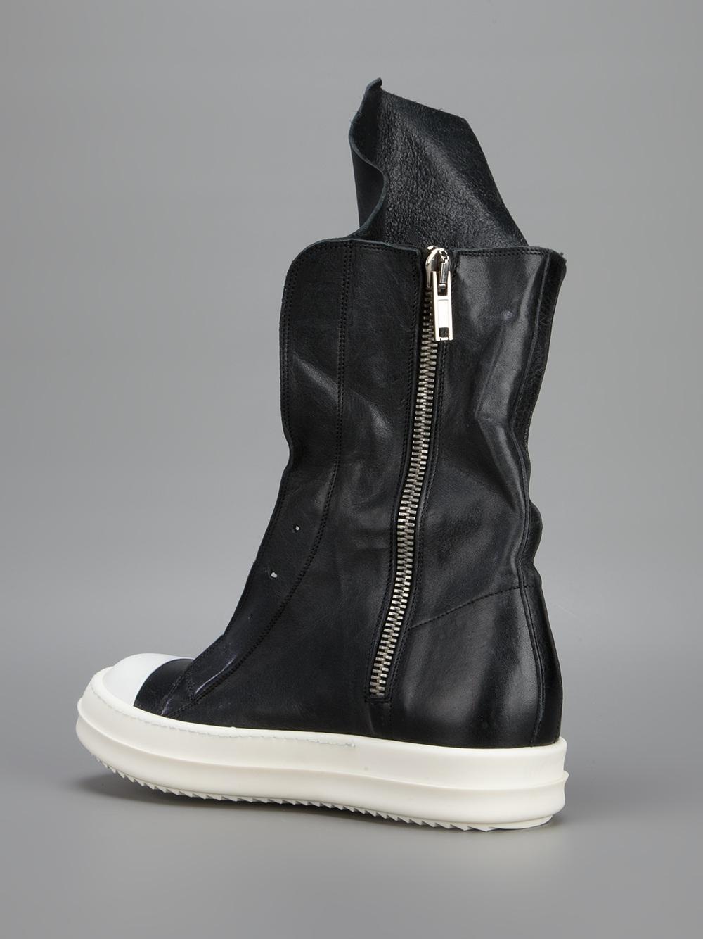 Rick Owen Ramones | Rick Owens High Top Sneaker | Drkshdw Ramones