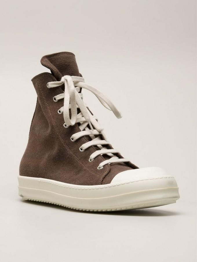 Rick Owen Sneakers | All Black Geobaskets | Rick Owen Ramones