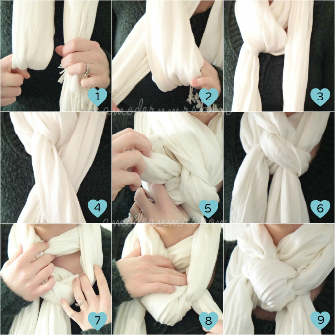 Scarf Knots | Hermes Classic Scarf | How To Fold Infinity Scarf