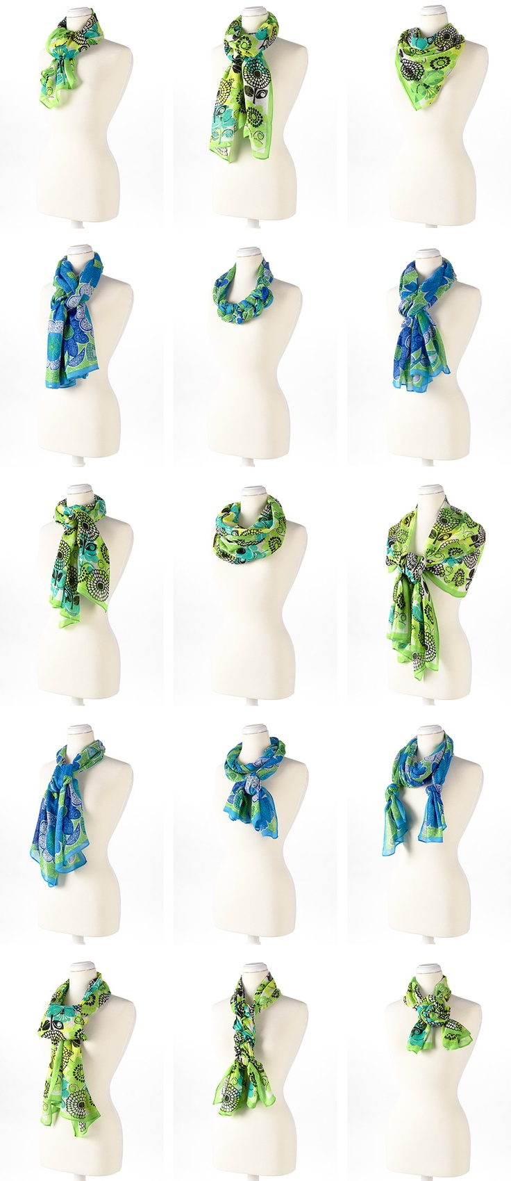Scarf Knots | How to Fold A Scarf | How to Wear A Scarf Shawl