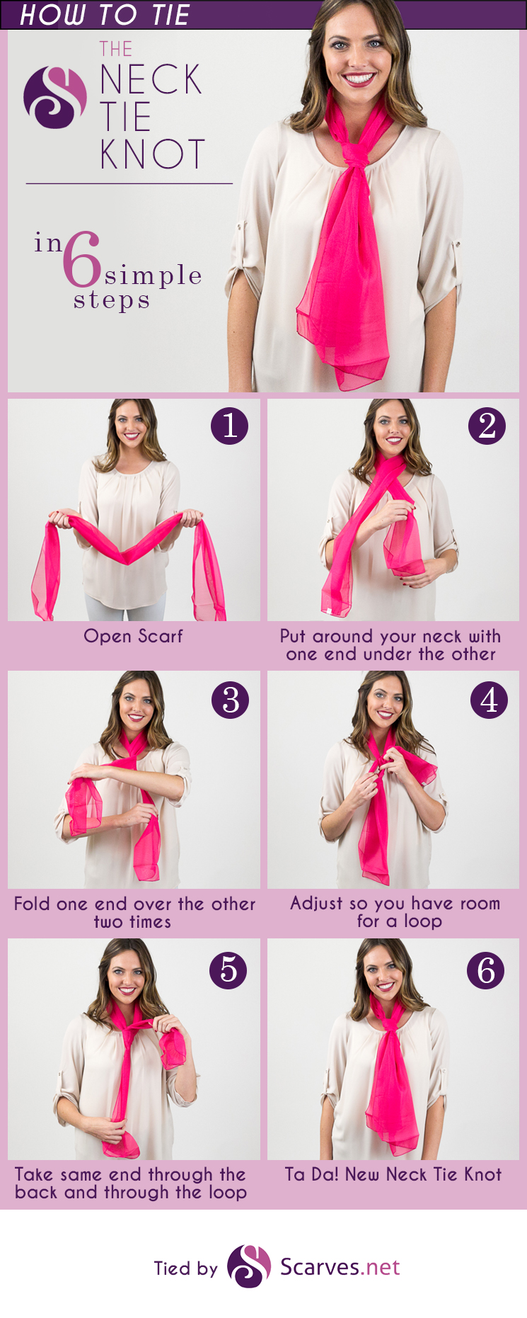 Scarf Knots | How to Fold Infinity Scarf | Shawl Wrapping Styles