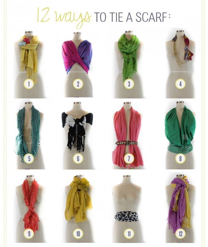 Scarf Knots | How To Wear A Hermes Scarf | Ways To Tie A Shawl Wrap
