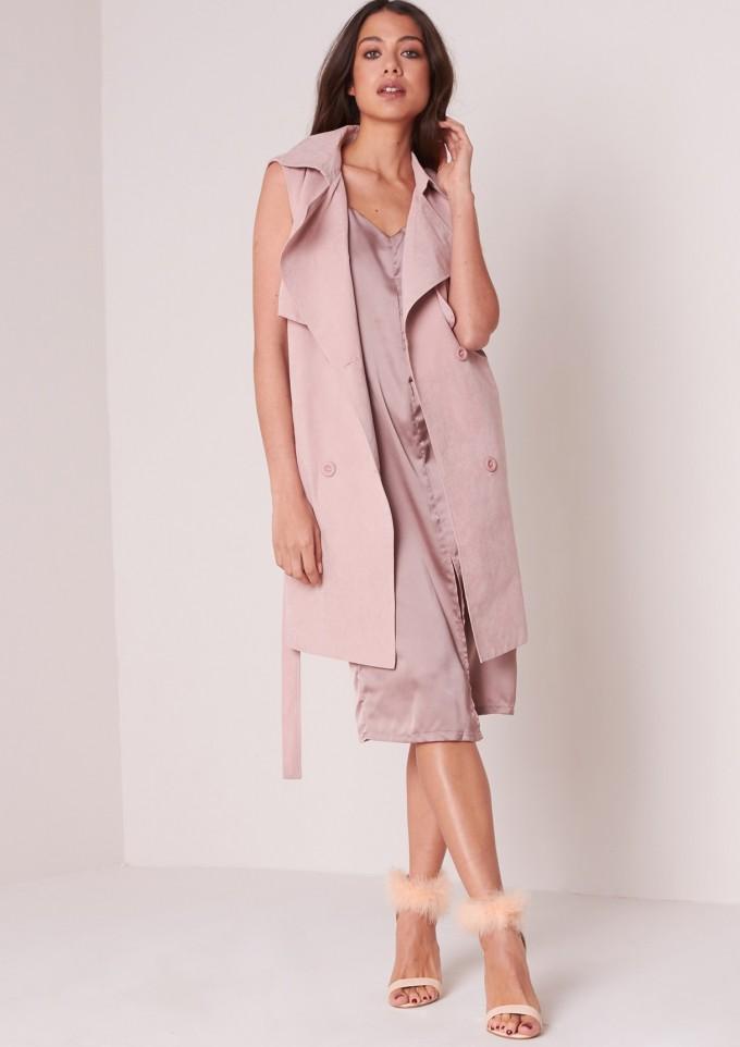 Sheer Duster Jacket | Womens Trench Coat Sale | Sleeveless Trench Coat