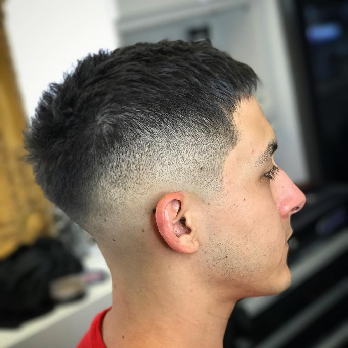 Short Fade Haircut | Mid Fade Pompadour | Bald Fade