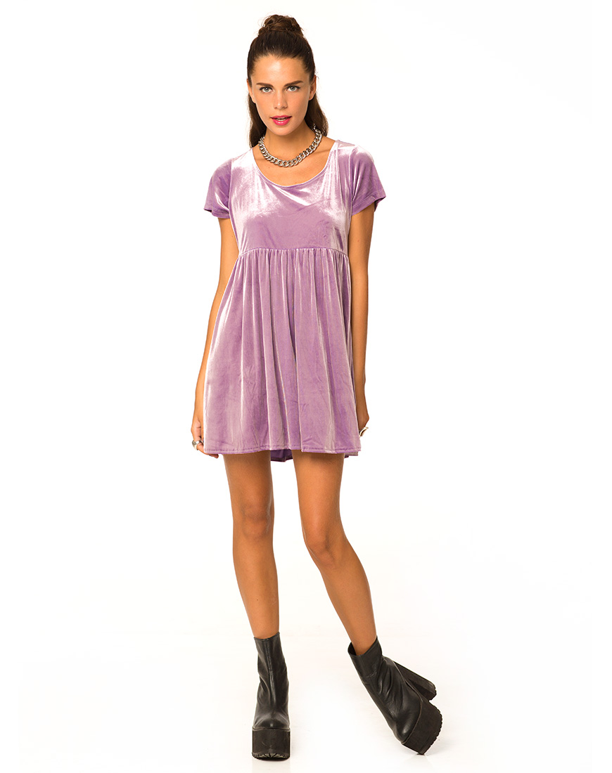 Short Sleeve Babydoll Dress | Babydoll Dresses | Purple Babydoll Dress