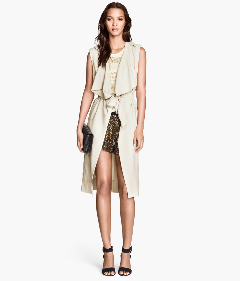 Sleeveless Leather Trench Coat   Where Can I Buy A Cheap Trench Coat   Sleeveless Trench Coat