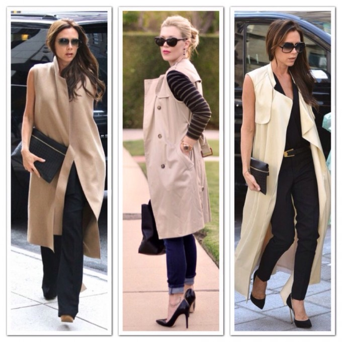 Sleeveless Trench Coat | Duster Coat Womens | Khaki Trench Coat For Women