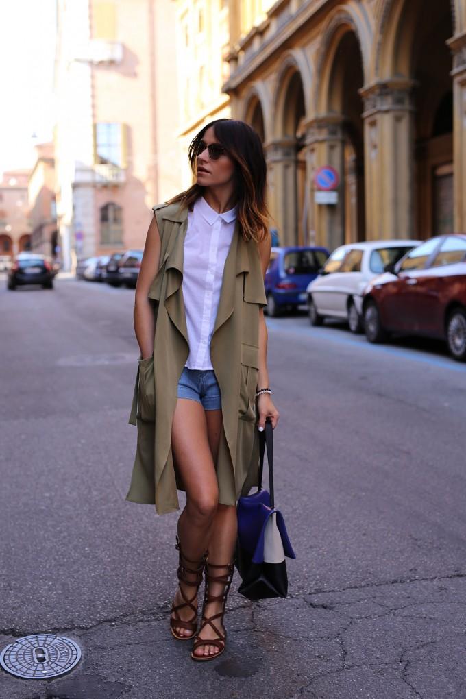 Sleeveless Trench Coat | Womens Duster Coat | Draped Coats
