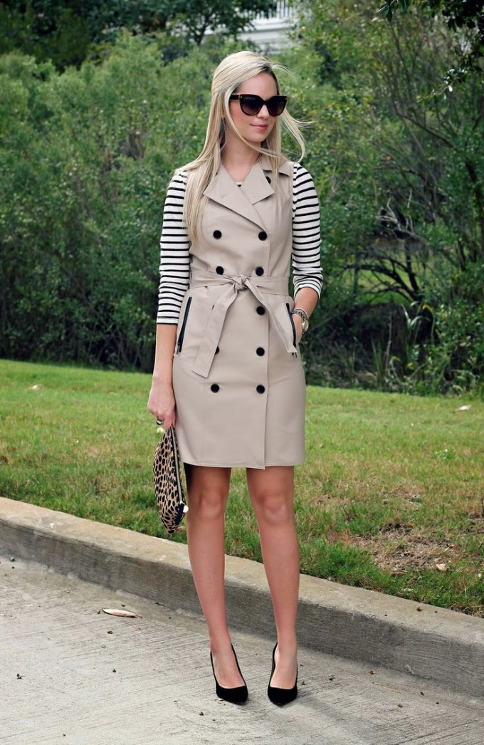 Sleeveless Trench Coat | Womens Trench Coat Sale | Beige Womens Trench Coat