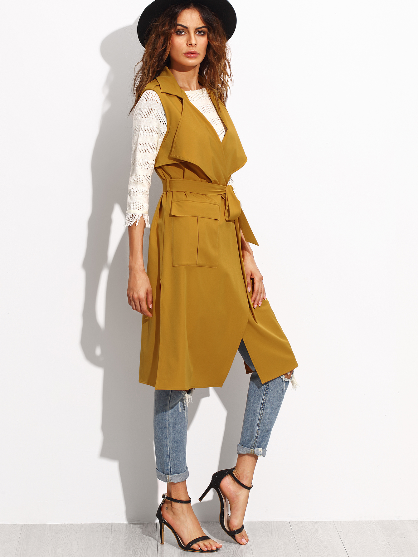 Soft Trench Coat | Womens Duster | Sleeveless Trench Coat