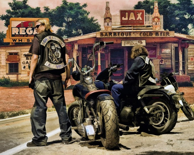 Sons Of Anarchy Bikes | Jt Bike | Soa Table