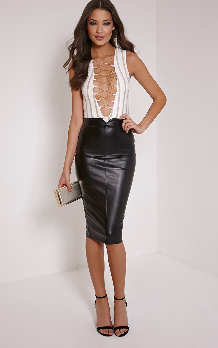 Suede Skirt Long | Leather High Waisted Skirt | Faux Leather Skirt