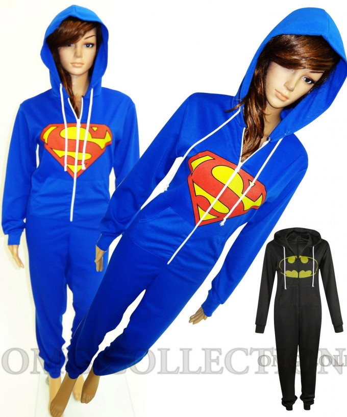 Superhero Onesies Adults | Batman Onesie | Batman Footed Pajamas