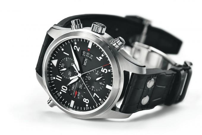 Top Gun Replicas   Iwc Top Gun   Iwc Pilot Black Dial Chronograph Automatic Mens Watch