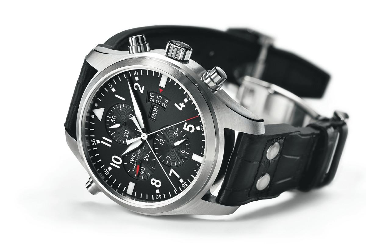 Top Gun Replicas | Iwc Top Gun | Iwc Pilot Black Dial Chronograph Automatic Mens Watch