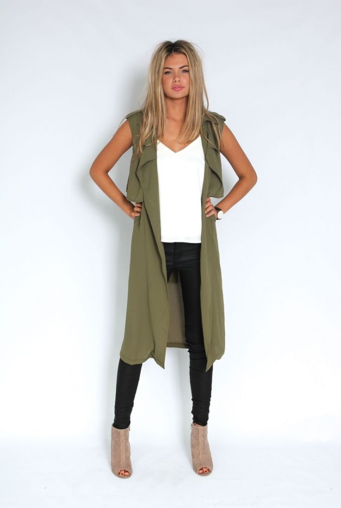 Trench Vest | Sleeveless Trench Coat | Duster Jackets For Women