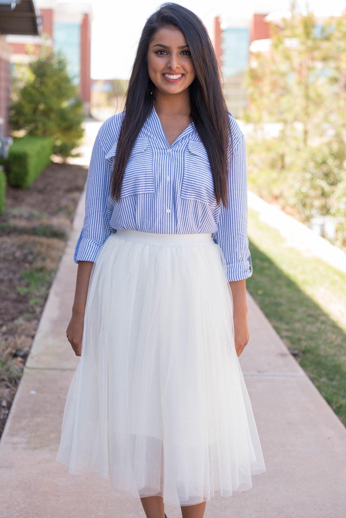 Tulle Ballerina Skirt | Tea Length Tulle Skirt | Tulle Midi Skirt