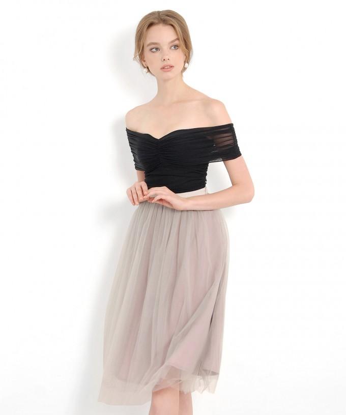 Tulle Midi Skirt | Layered Tulle Midi Skirt | Tulle Skirt Dress