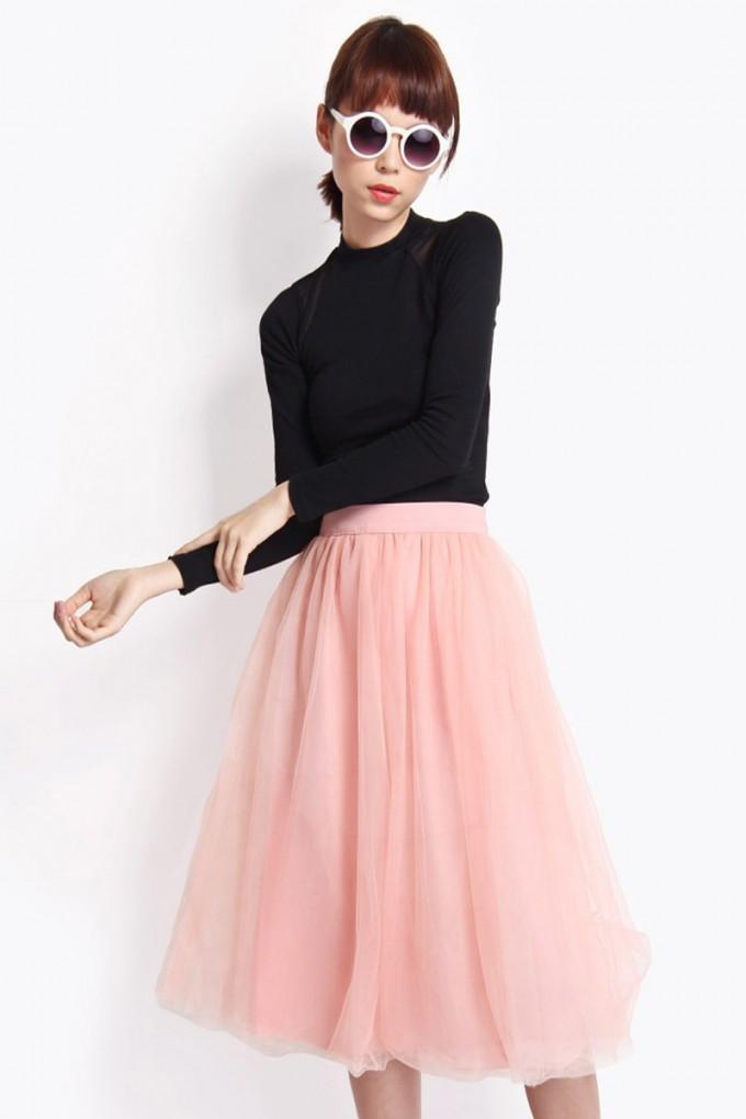Tulle Midi Skirt | Pleated Tulle Skirt | Pleated Midi Skirt