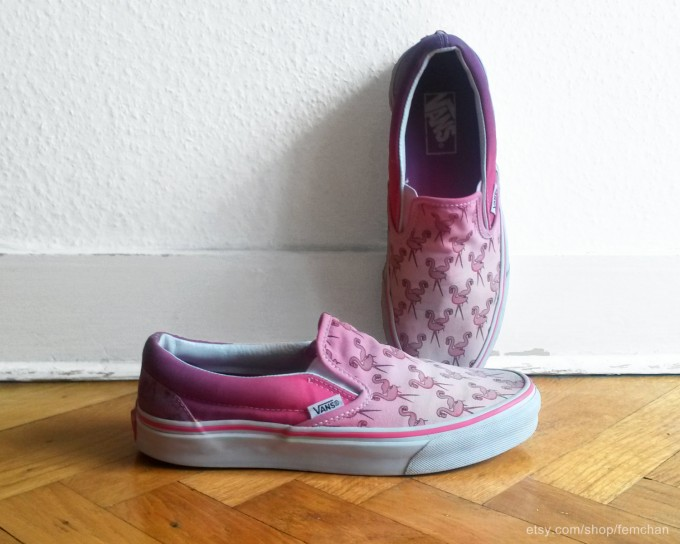 Vans Dressed Up | Vans Velcro Shoes | Flamingo Vans