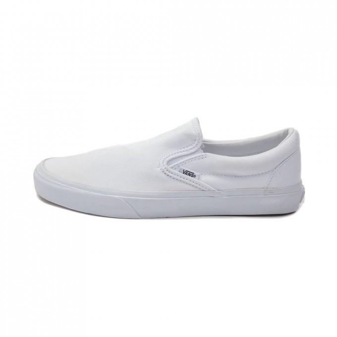 Vans Velcro Mens   White Van Slip Ons   Flamingo Vans Shoes