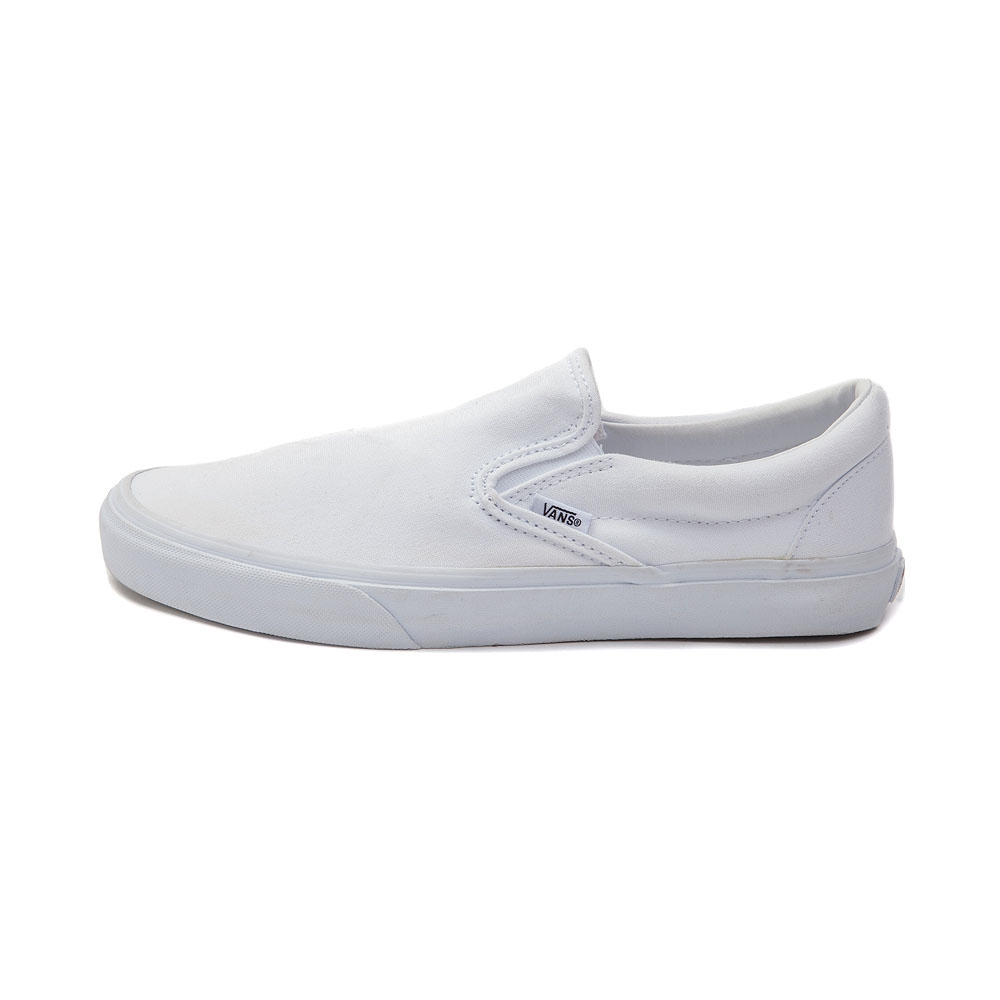 Vans Velcro Mens | White Van Slip Ons | Flamingo Vans Shoes