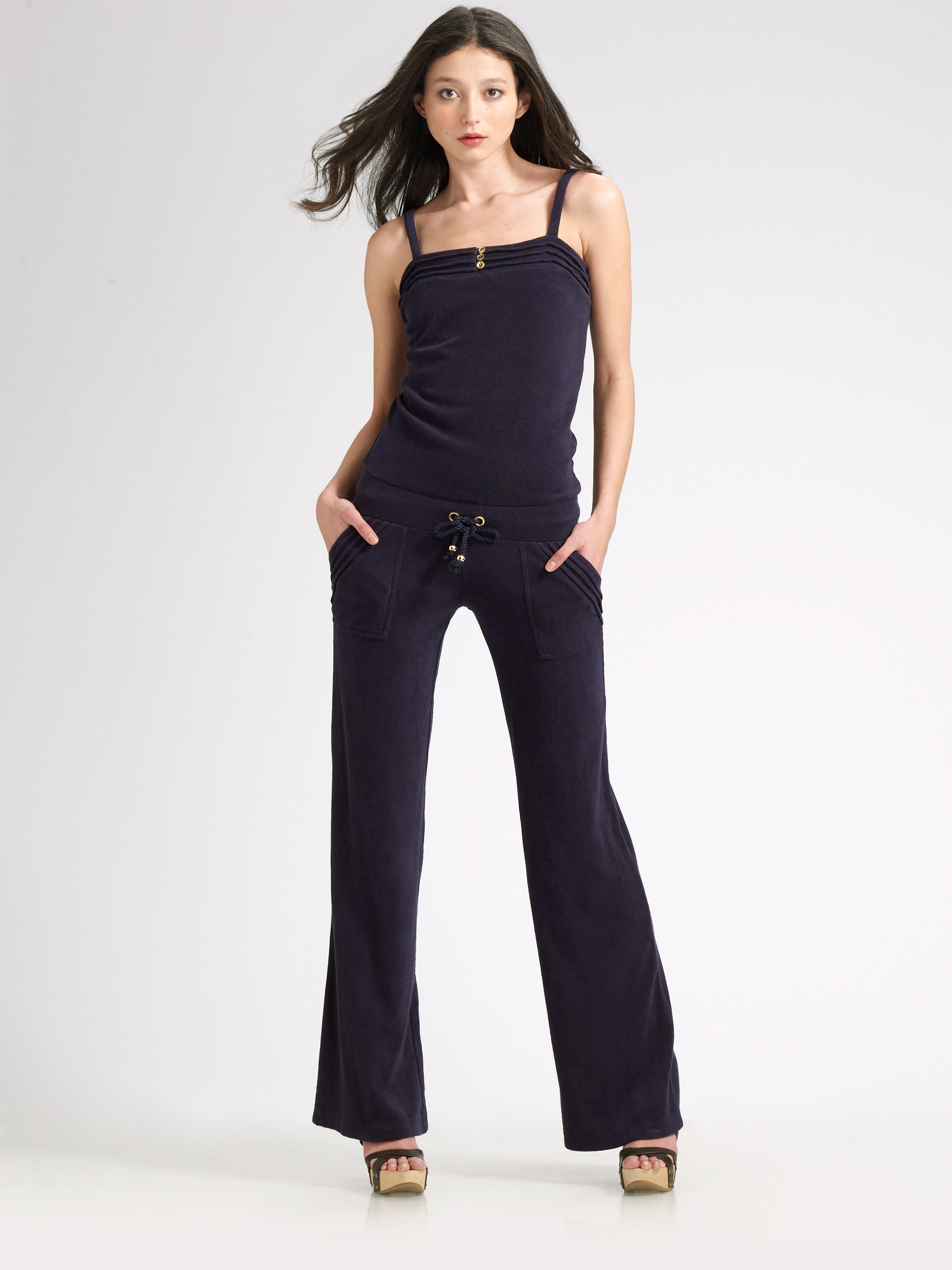 Velour Pant Suit Petite | Velor Jumpsuit | Juicy Tracksuit