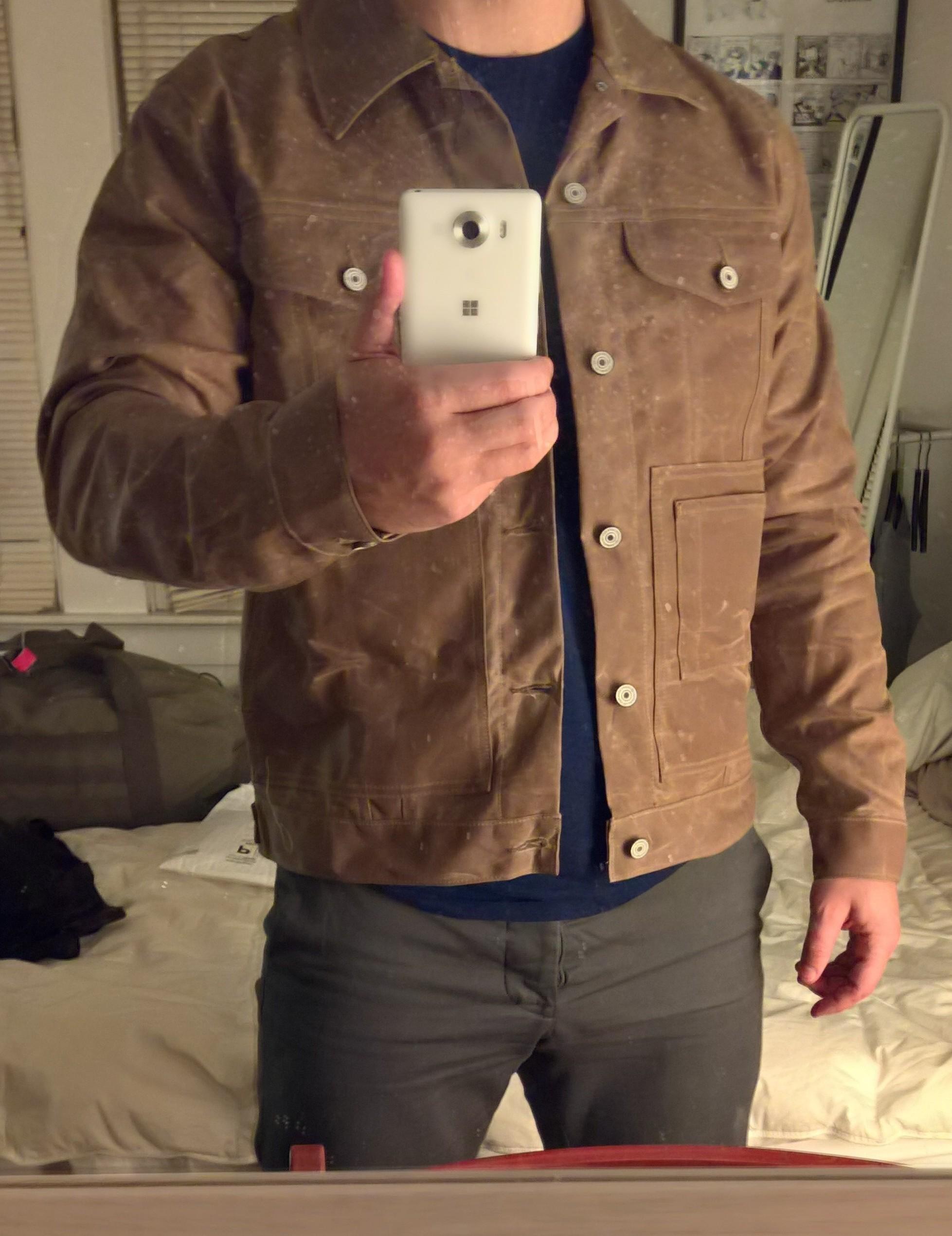 Wax Coat Men | Waxed Cotton Motorcycle Jacket | Waxed Trucker Jacket