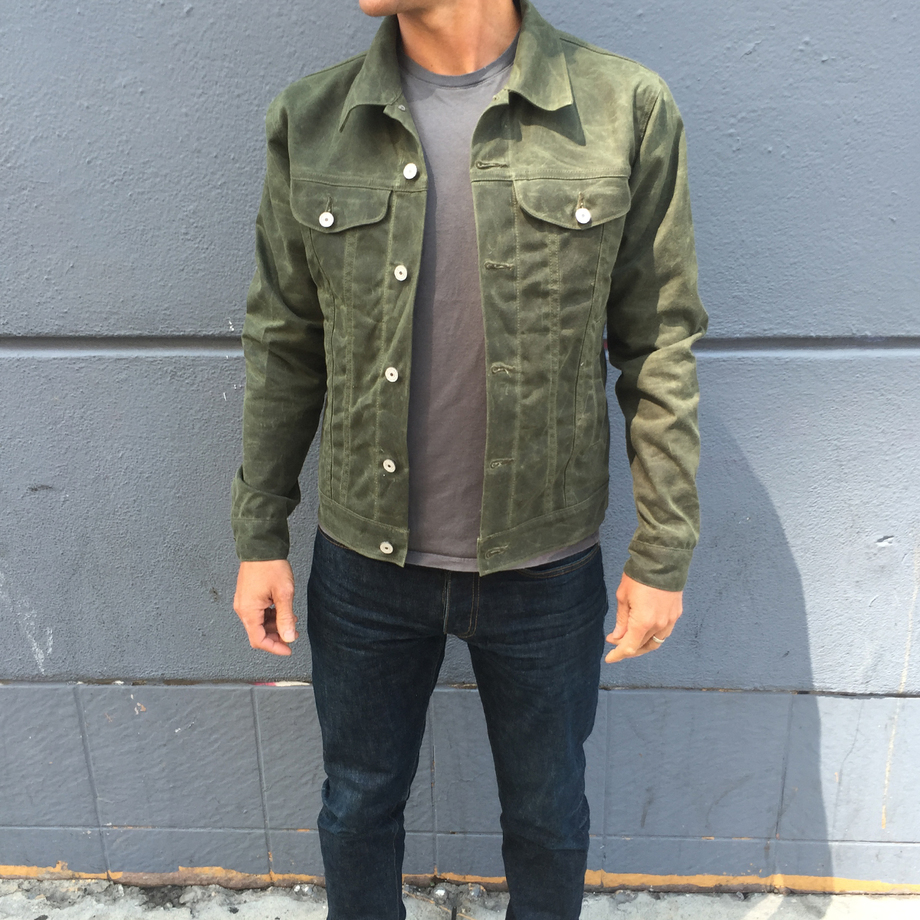 Wax Motorcycle Jacket | Oiled Canvas Jacket | Waxed Trucker Jacket