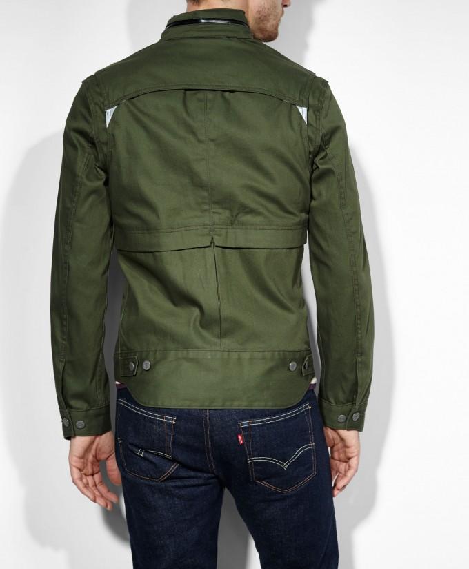 Waxed Cotton Motorcycle Jacket | Waxed Trucker Jacket | Waxed Cotton Jacket Mens