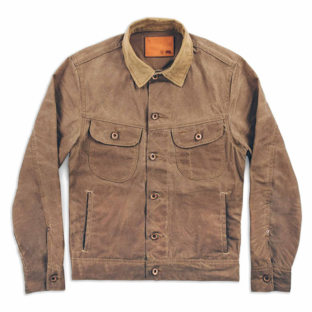 Waxed Jacket Men | Waxed Trucker Jacket | Mens Canvas Coat