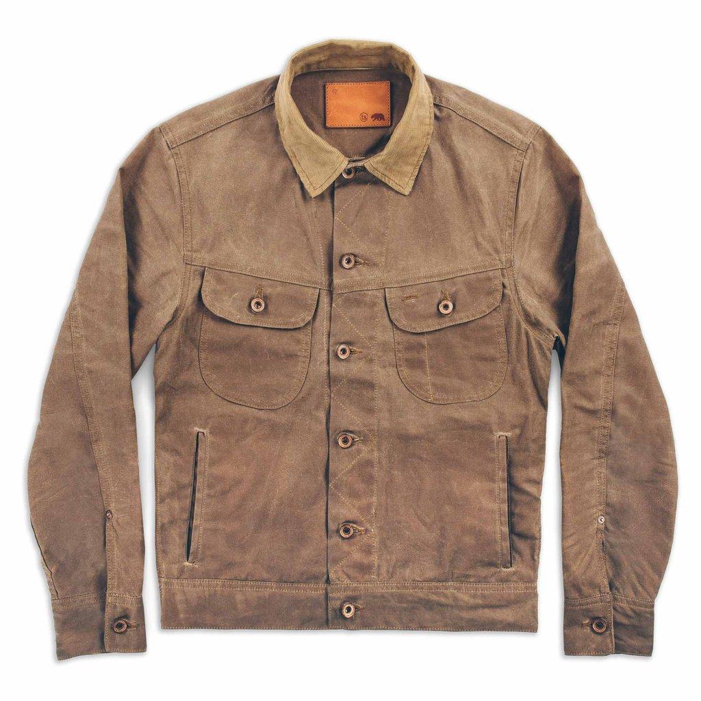 Waxed Jacket Men | Waxed Trucker Jacket | Mens Canvas Coat