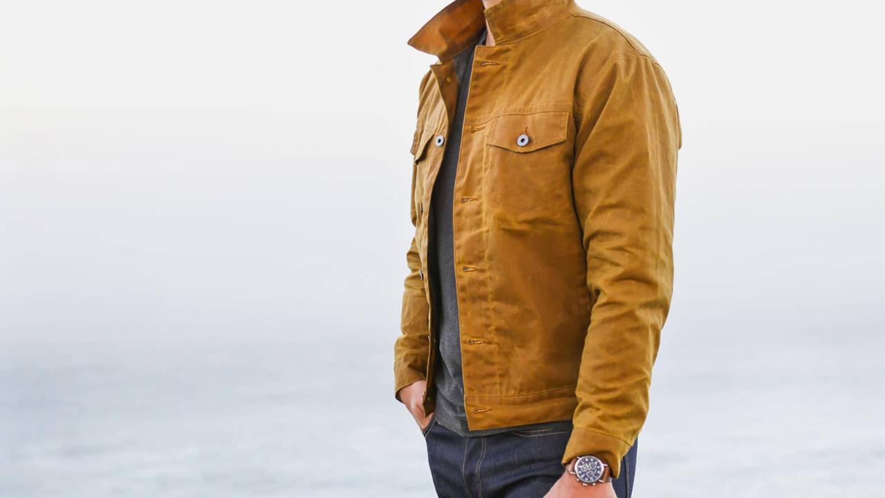Waxed Jean Jacket | Orvis Heritage Field Coat | Waxed Trucker Jacket