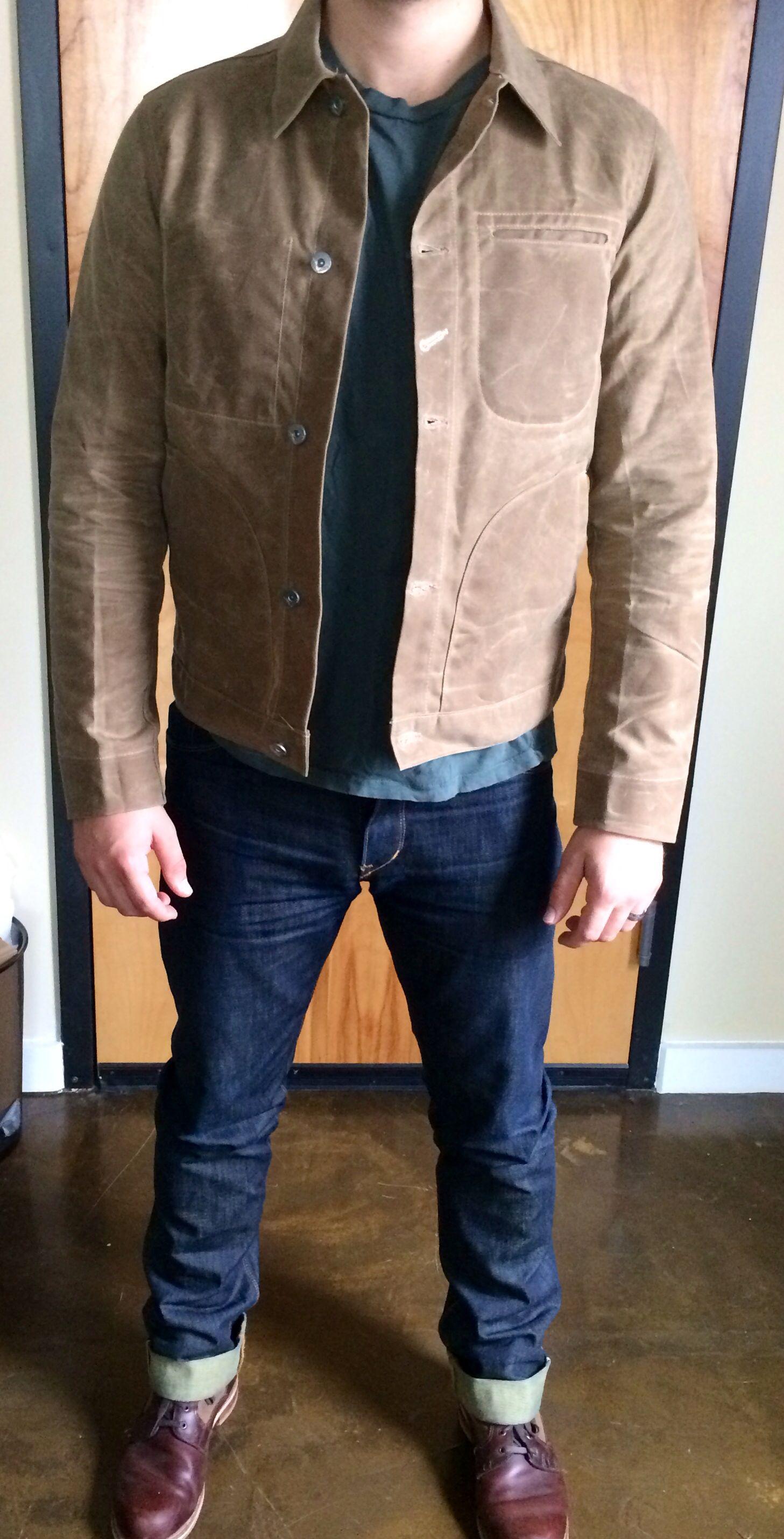 Waxed Trucker Jacket | Carhartt Trucker Jacket | Flannel Lined Coat