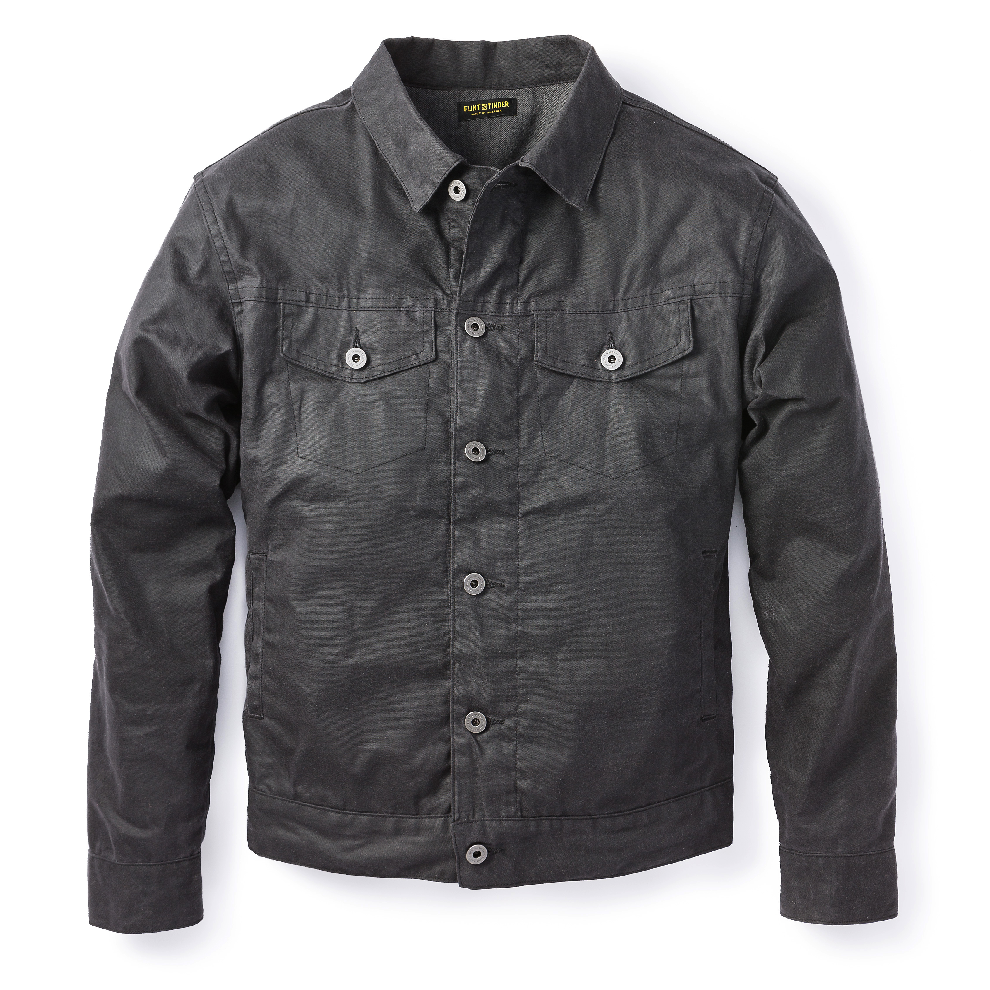 Waxed Trucker Jacket | Mens Waxed Jackets | Wax Coat Men