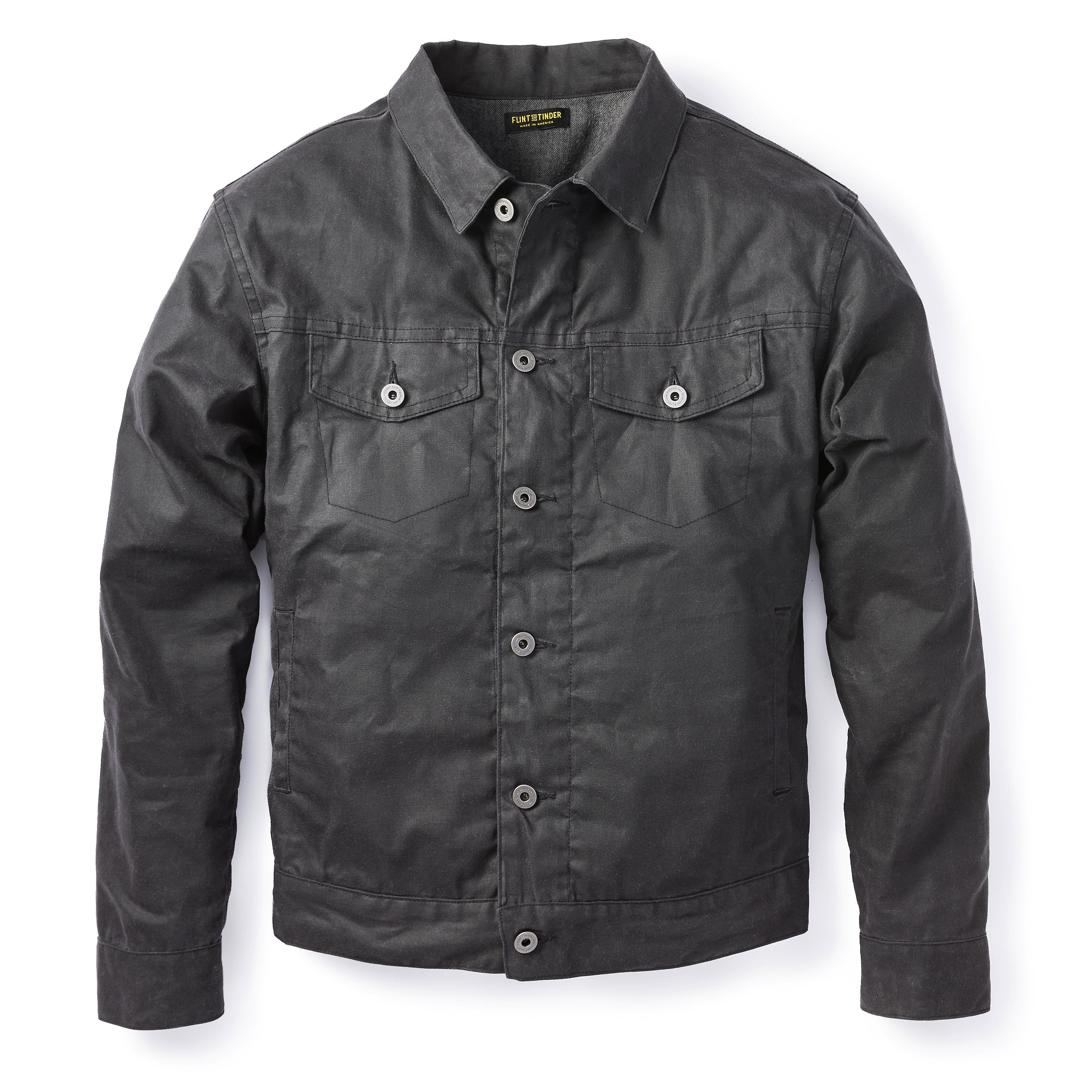Waxed Trucker Jacket | Mens Waxed Jackets | Wax Coat Men