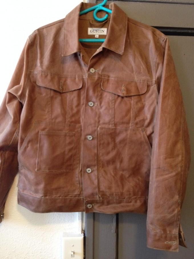 Waxed Trucker Jacket | Waterproof Canvas Jacket | Oiled Canvas Coat