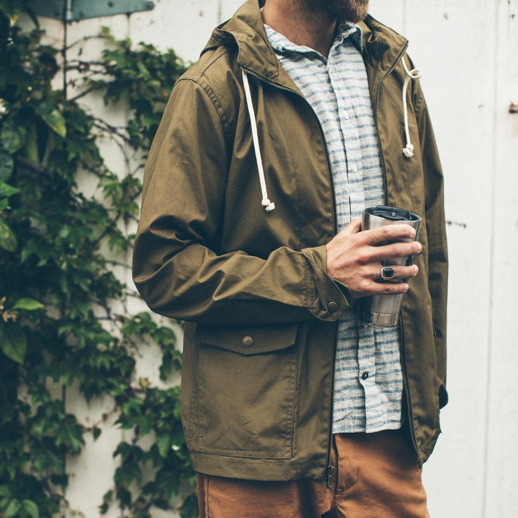 Waxed Trucker Jacket | Waxed Cotton Mens Jacket | Slim Fit Wax Jacket