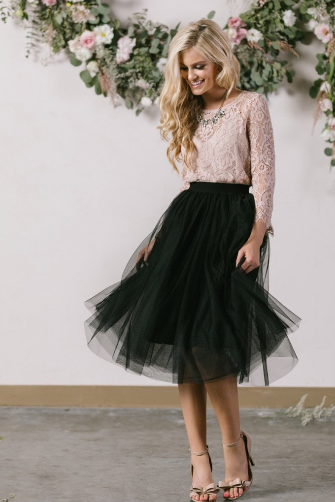 What To Wear With A Tulle Skirt | Mid Length Tulle Skirt | Tulle Midi Skirt