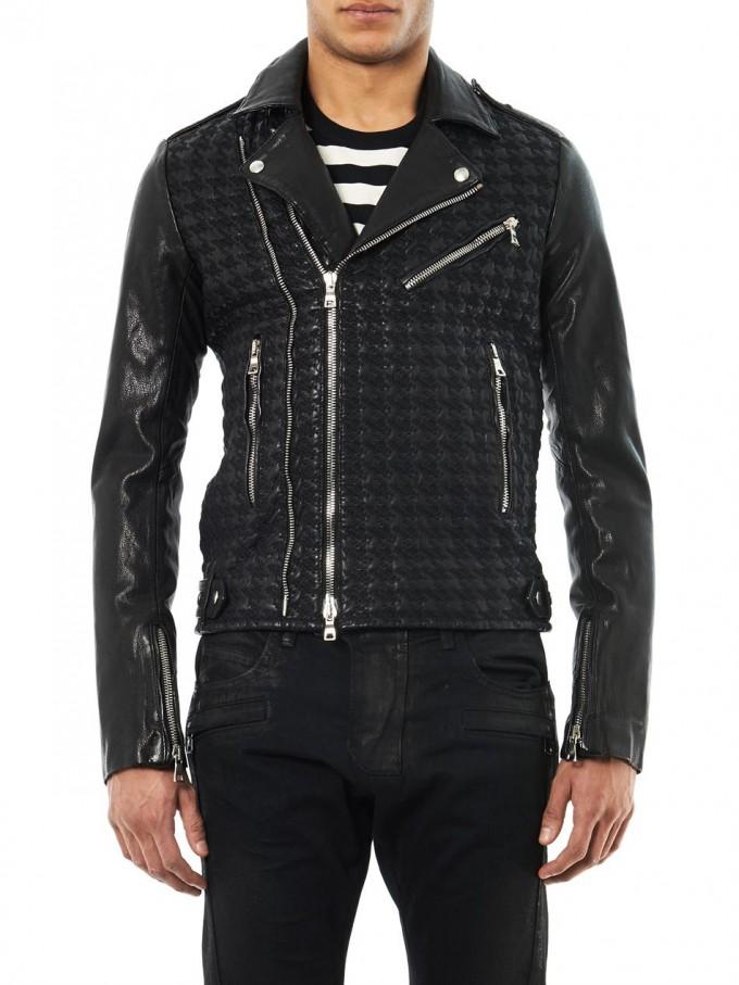 White Balmain Jeans Mens | Balmain Biker Denim | Balmain Leather Jacket