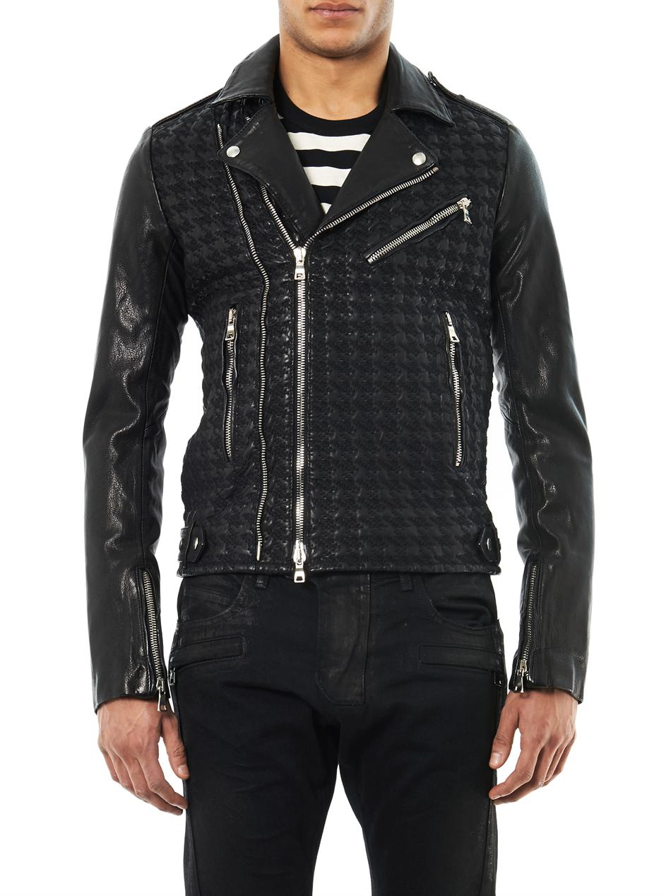 White Balmain Jeans Mens | Balmain Biker Denim | Balmain Leather Jacket