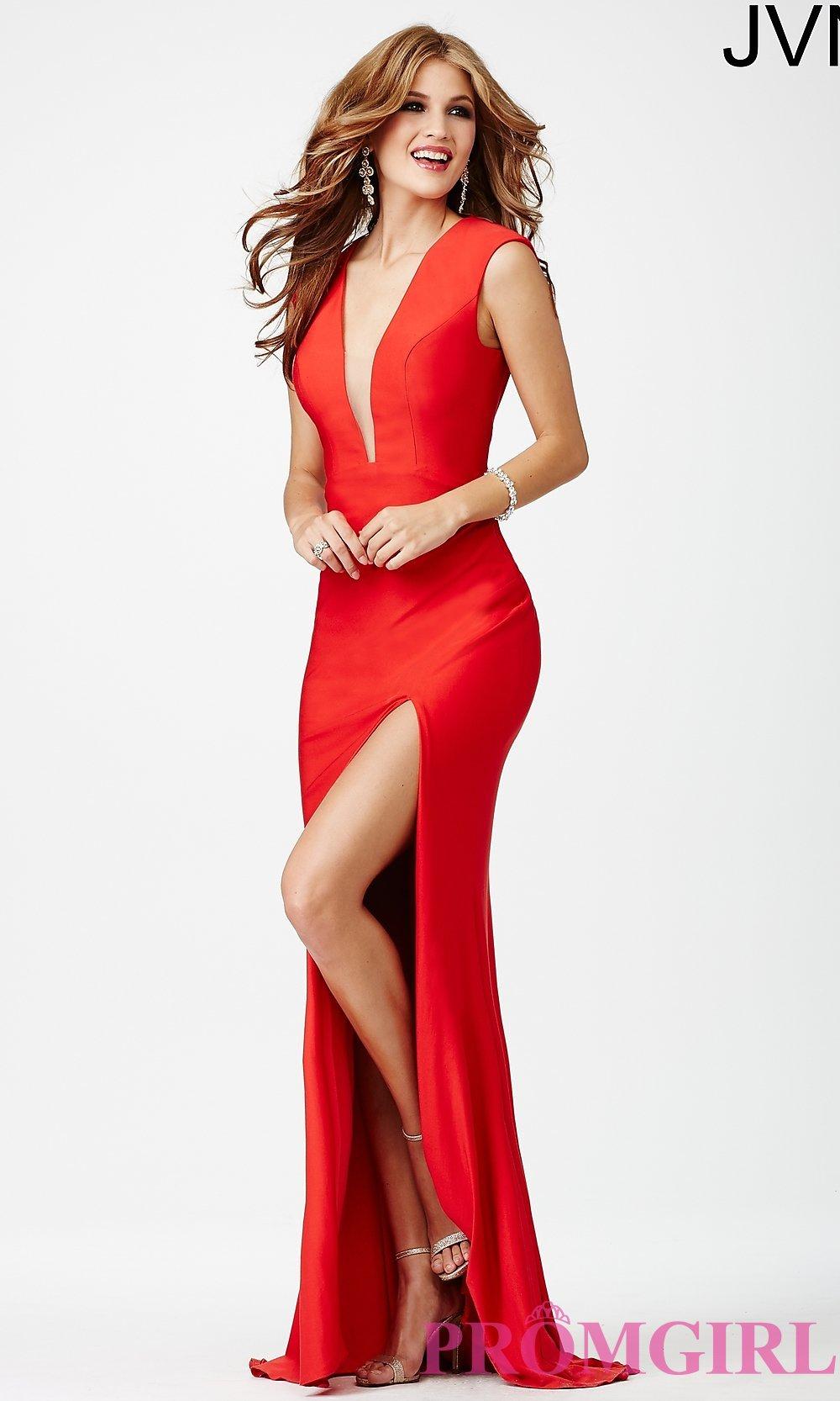 White Dress with Plunging Neckline | Plunging Neckline Dress | Burgundy V Neck Dress