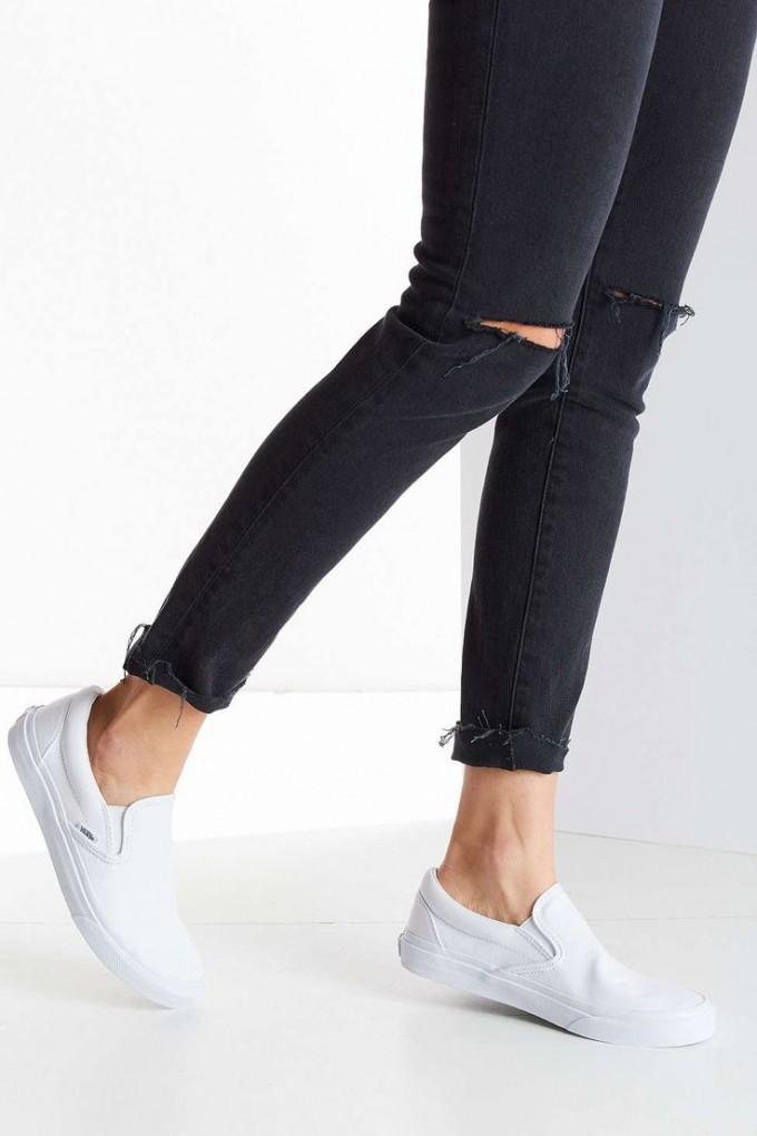 White Van Slip Ons | Sequin Vans | Vans Hawaiian Shoes