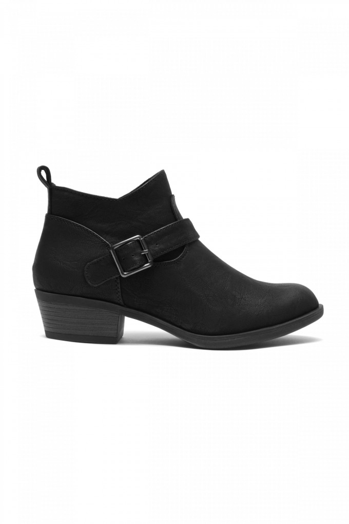 Wine Colored Ankle Boots | Kohls Boots Womens | Black Ankle Boots With Buckles