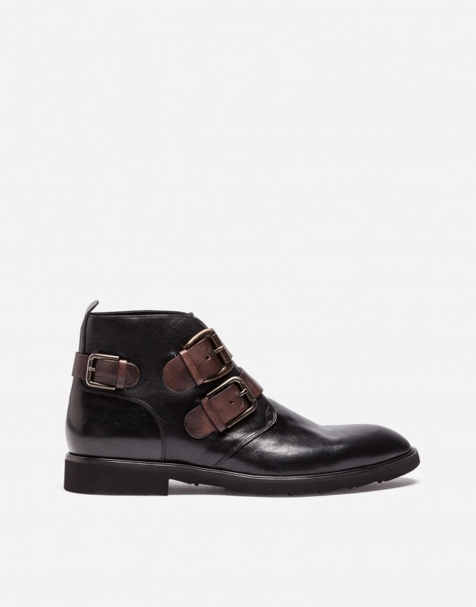 Wine Colored Boots | Black Ankle Boots With Buckles | Fall Ankle Boots