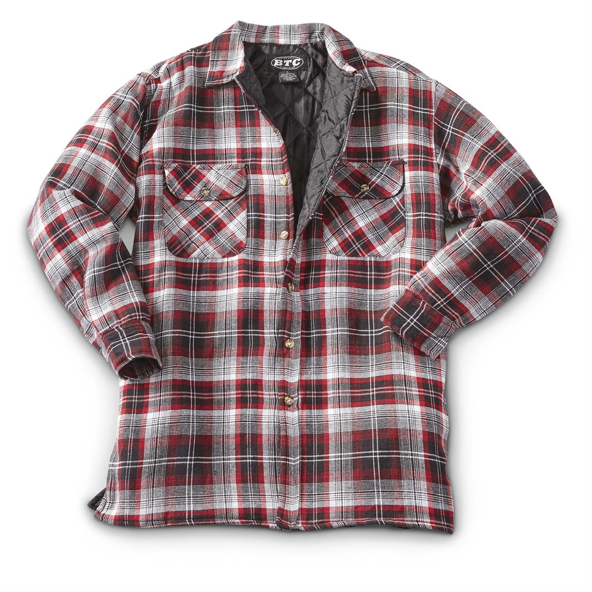 Wolverine Flannel | Quilted Flannel Shirt | Womens Lined Flannel Shirt