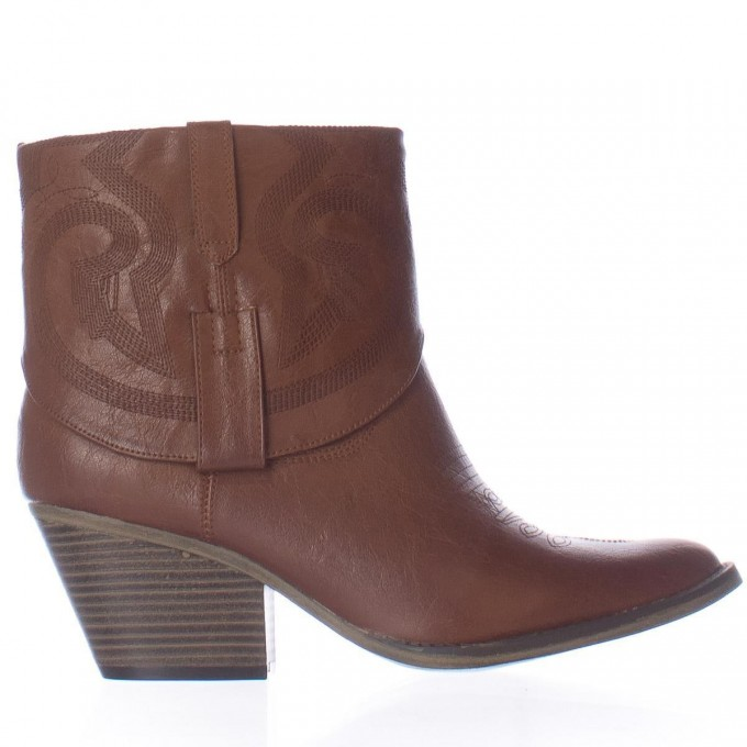 Womens Black Square Toe Cowboy Boots | Western Ankle Boots | Ankle Boots Western