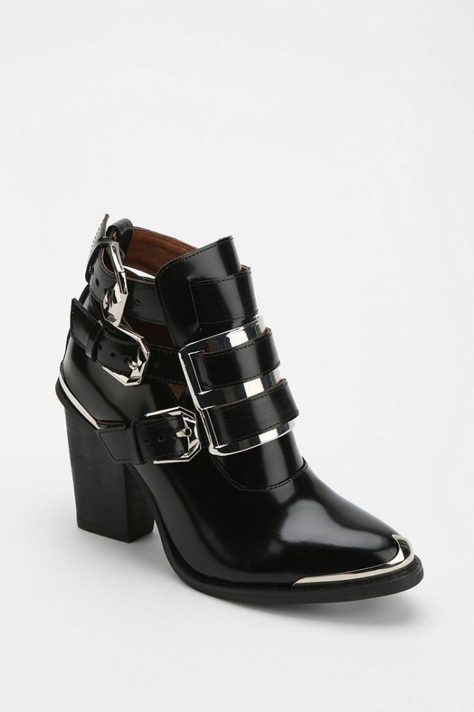 Womens Lace Up Ankle Boots | Low Heel Booties | Black Ankle Boots With Buckles
