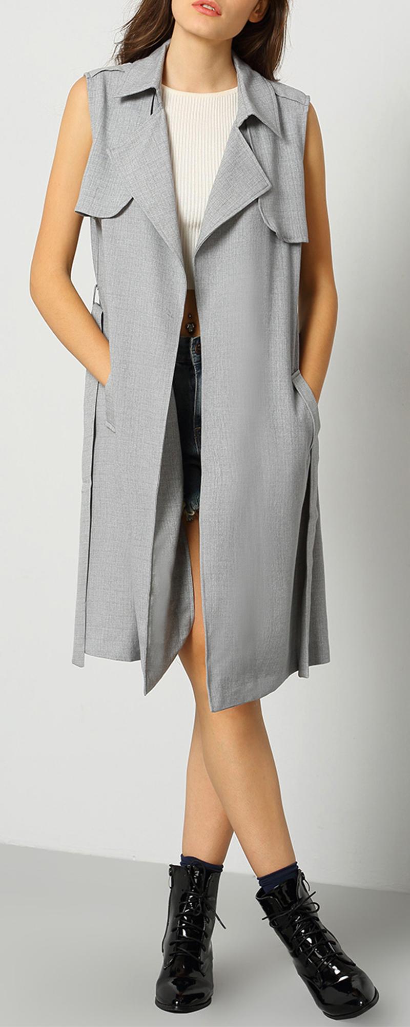 Womens Trench Rain Coat | Ladies Trench Coat | Sleeveless Trench Coat